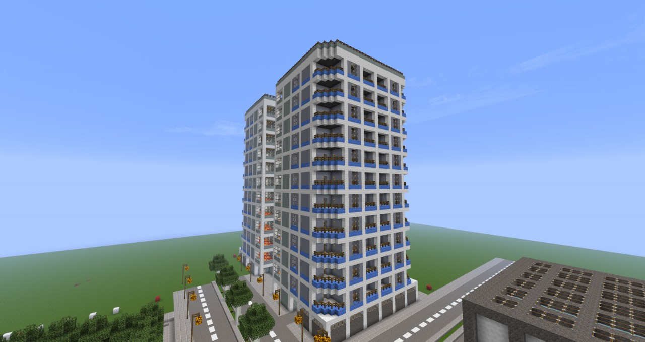 Skyscraper Apartment Complex Minecraft Project
