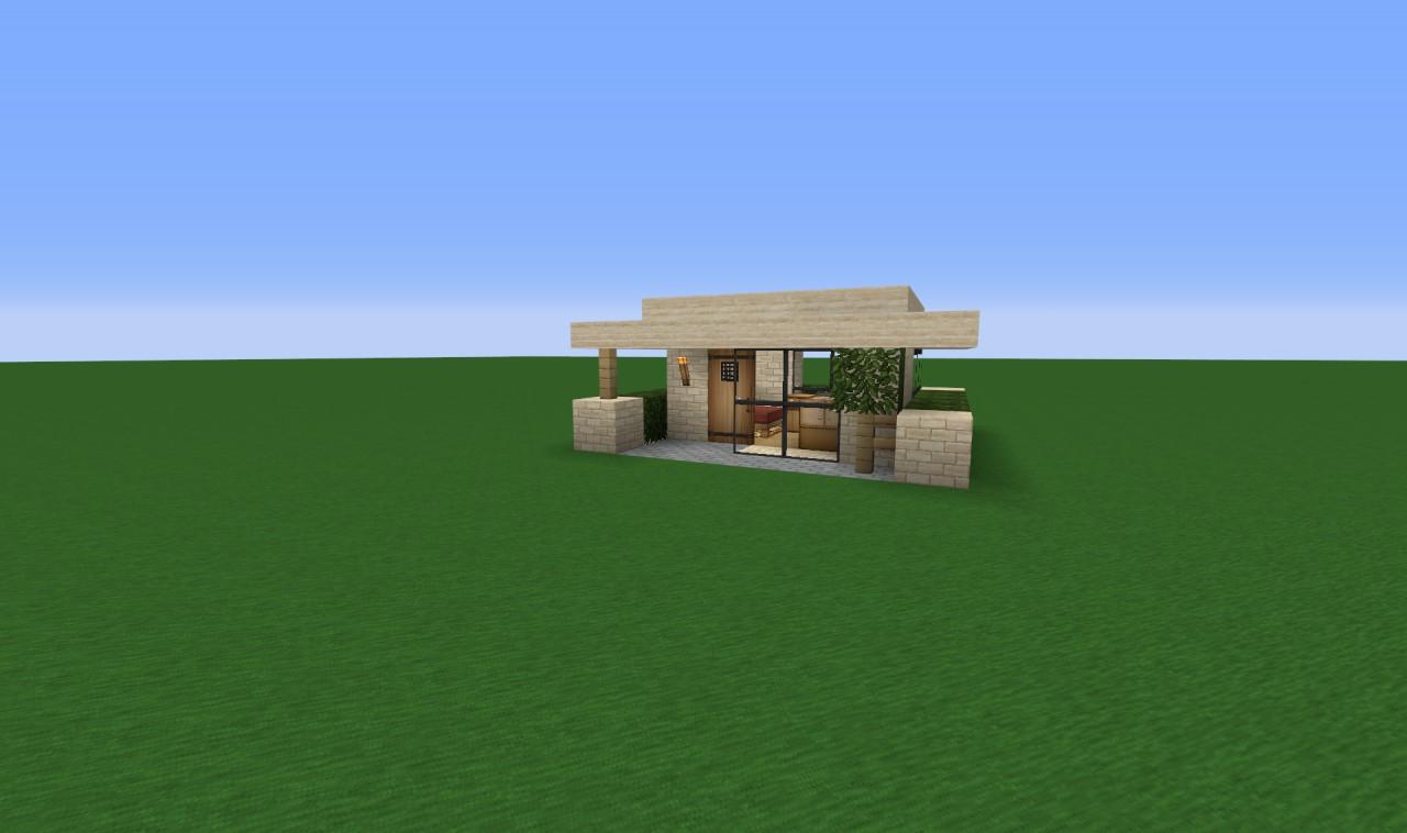 Modern House X Ground Minecraft Project - Minecraft modern house 5x5