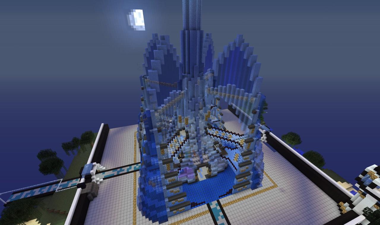 Curvy Ice Castle Minecraft Project