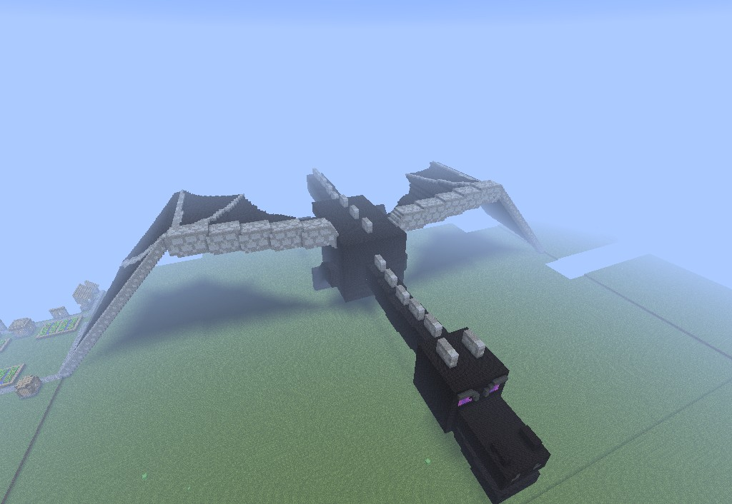 Enderdragon Pixel Art Minecraft Project