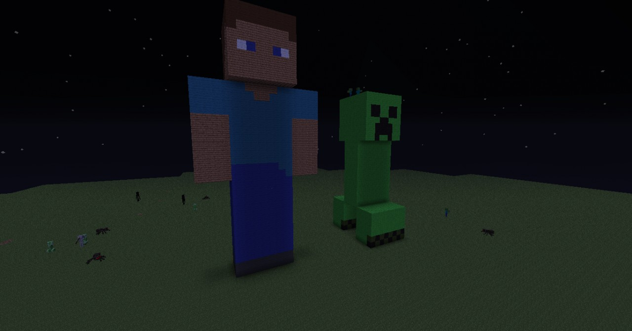 Steve and creeper minecraft project - Minecraft creeper and steve ...