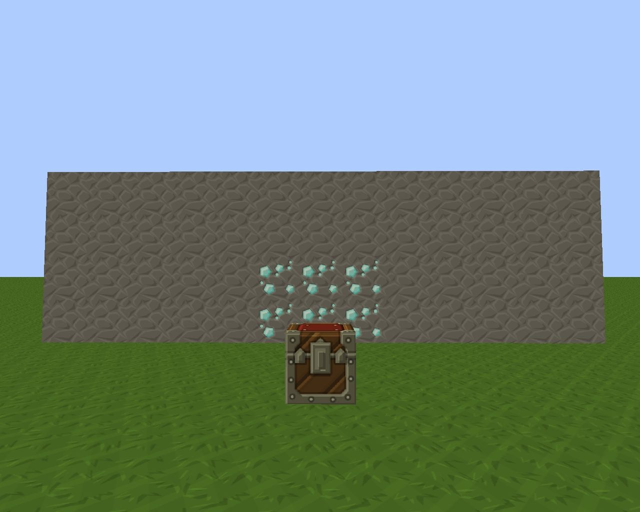 how to make a diamond trap in minecraft