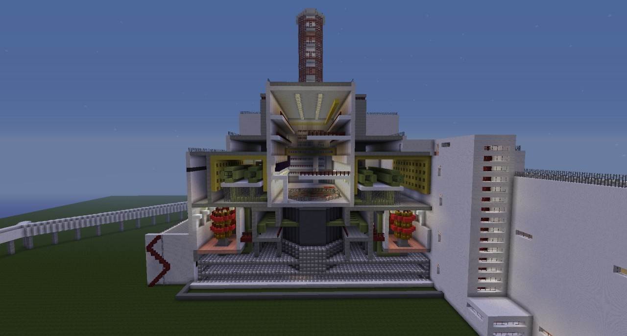 Rbmk Nuclear Power Plant Like Chornobyl Minecraft Project