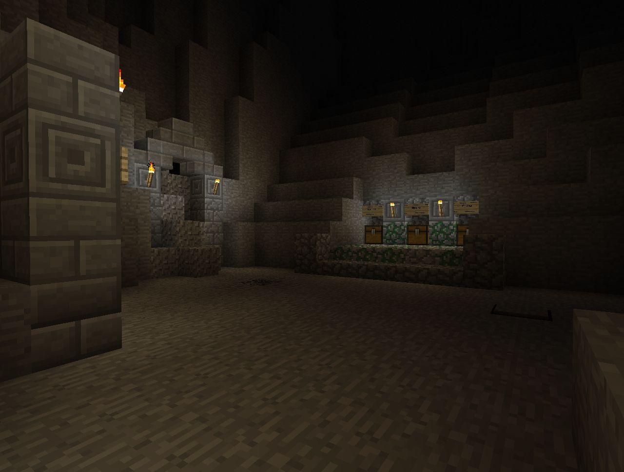 Dark Cave Adventure Map Minecraft Project
