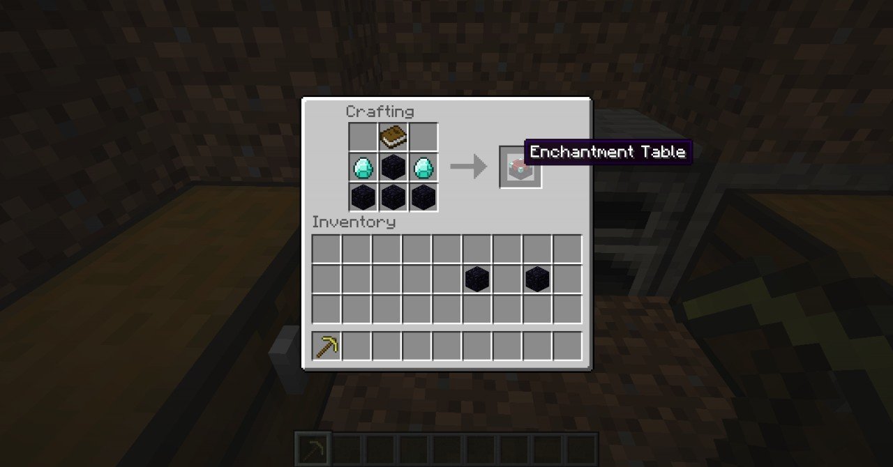 Minecraft Pe Crafting Enchantment Table