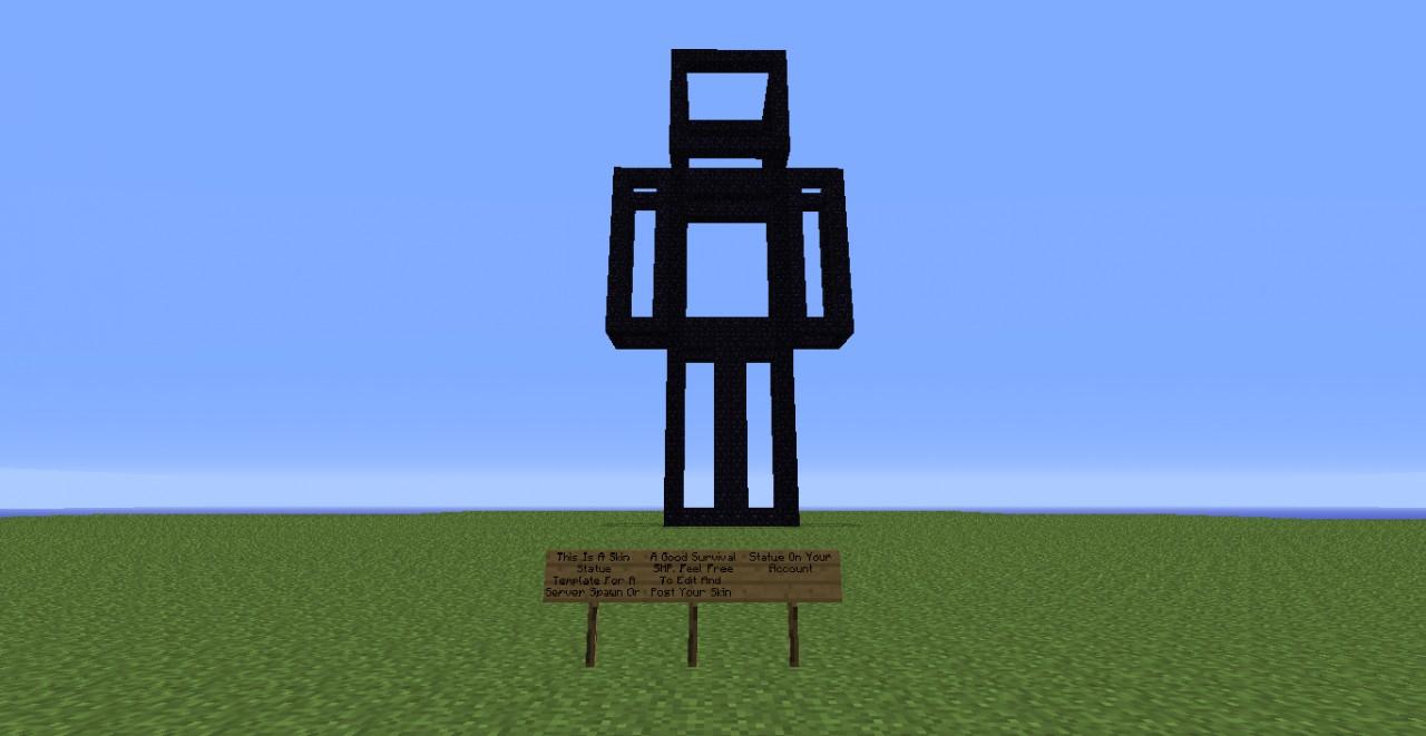 minecraft statue template