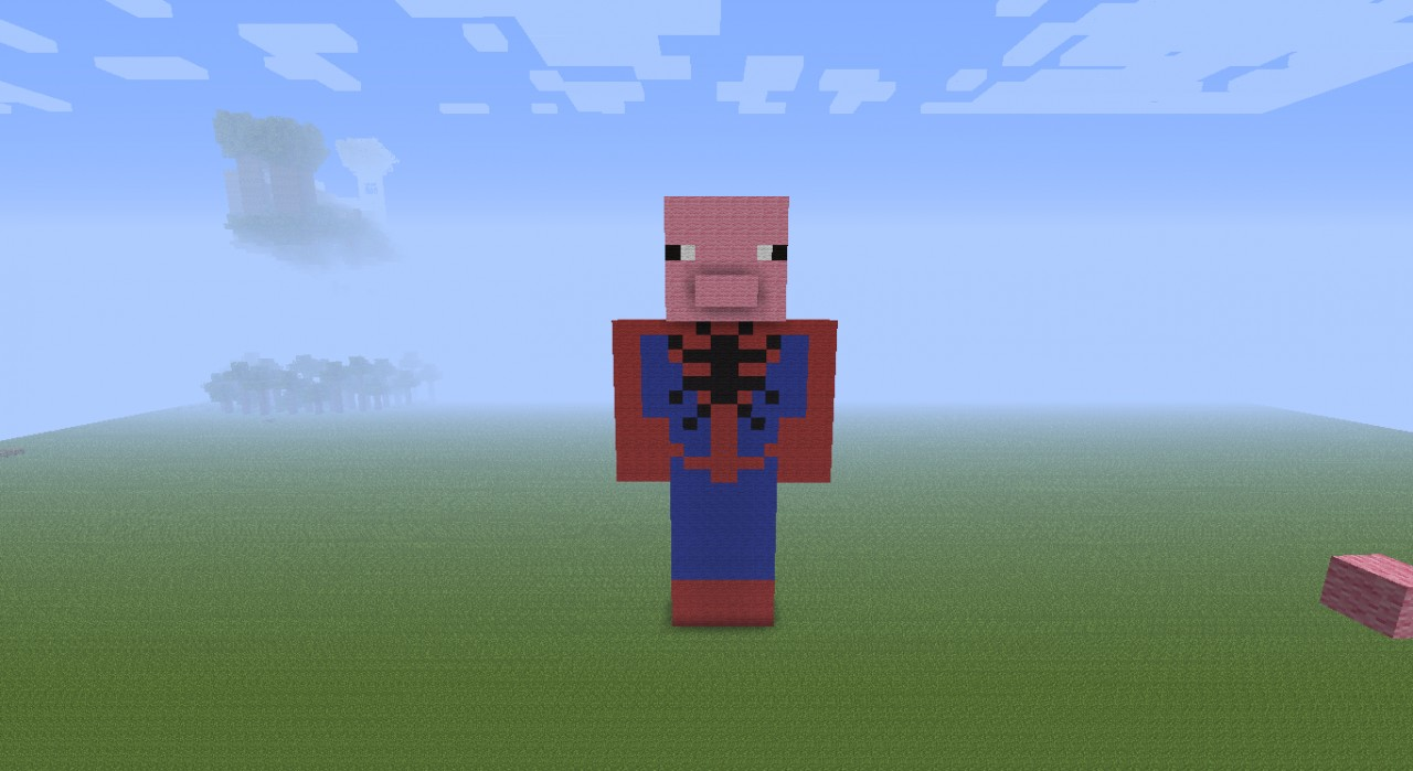 Spider Statue Minecraft spider pig stat...