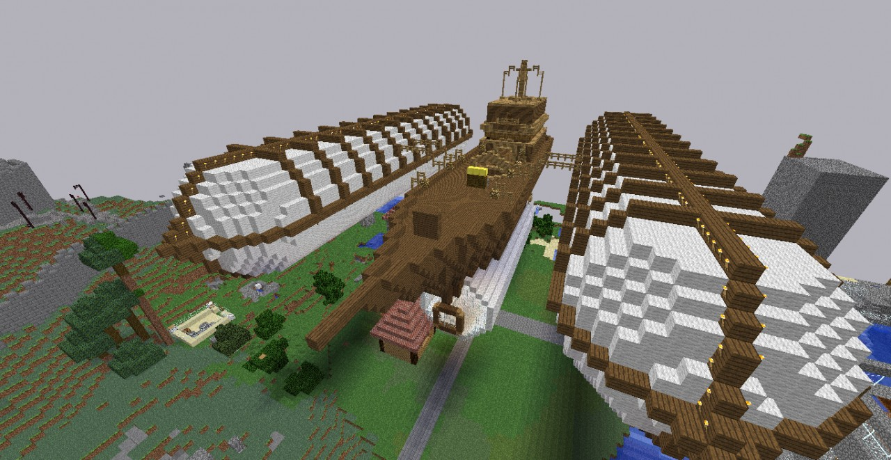 The build world spawn... an airship!
