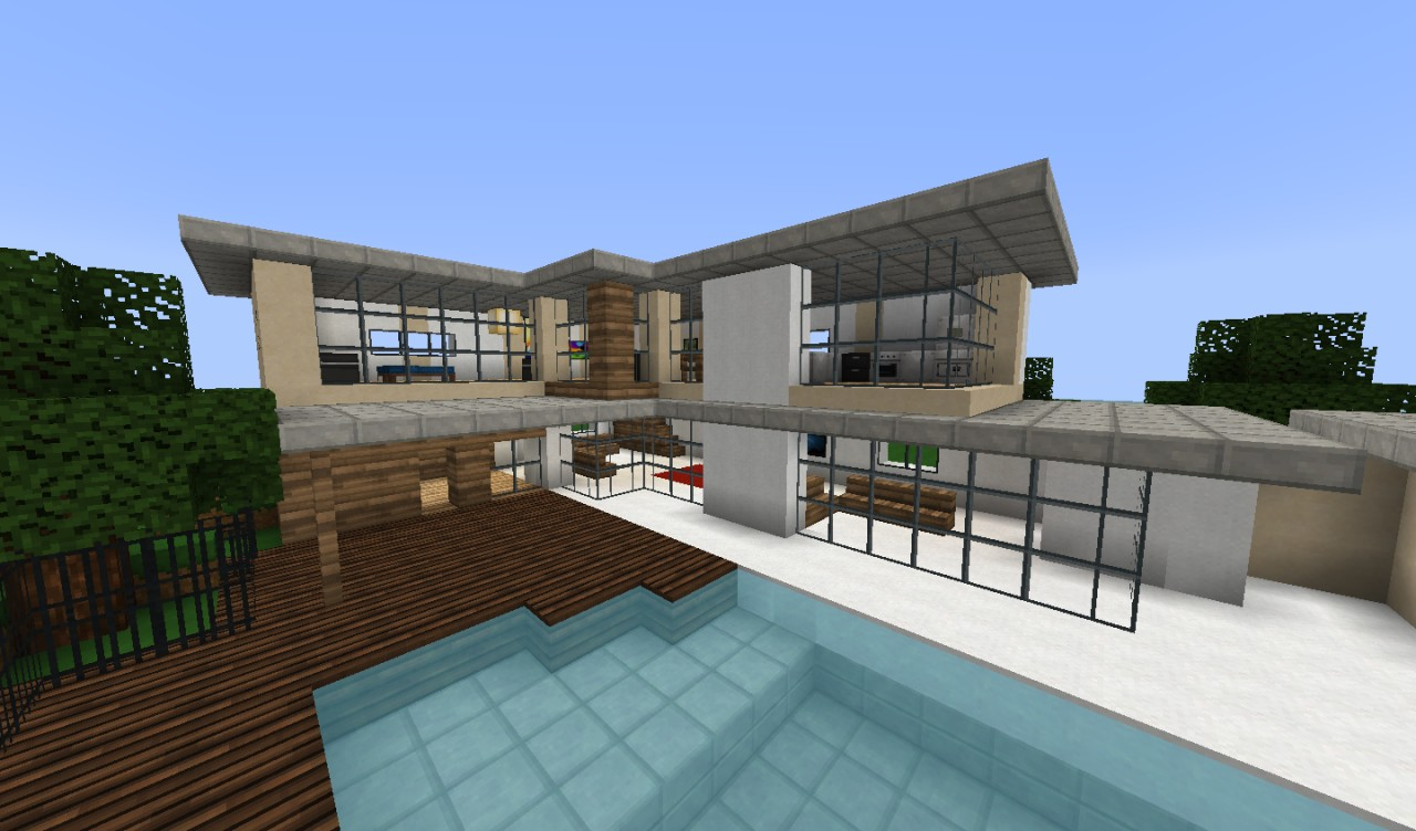 Fancy Modern House! Minecraft Project