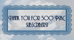 Thank you for 500 PMC subscribers! Minecraft Blog Post