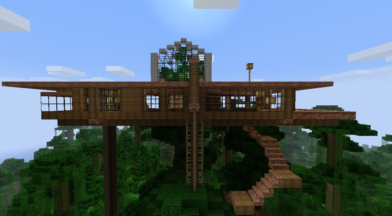 Modern Jungle House With An Epic View Minecraft Project