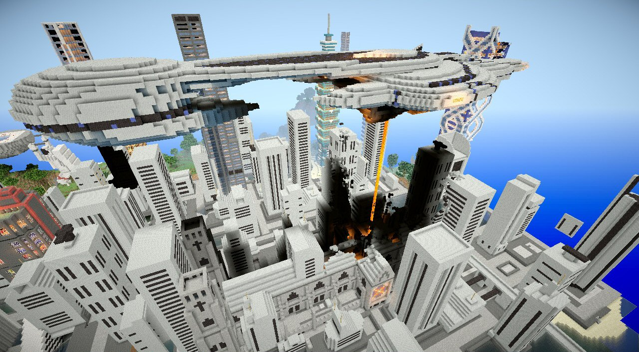 Halo Convenant ship in minecraft Minecraft Project