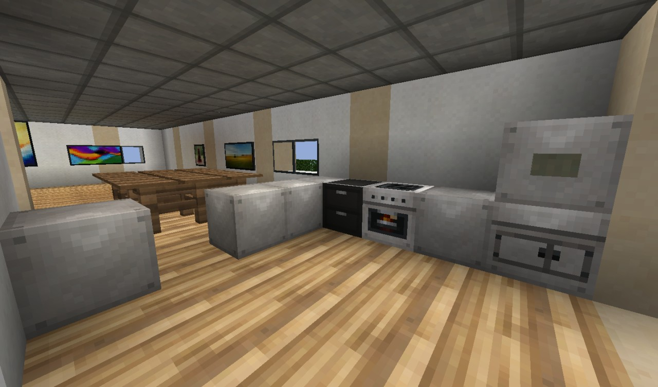 Fancy modern house minecraft project for Dining room designs minecraft