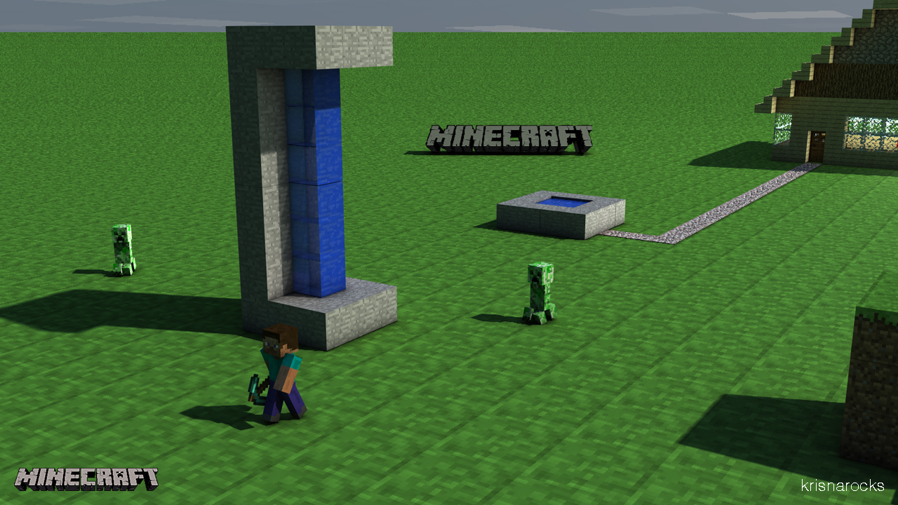 Krisna S Mc Wallpaper Chased By Creepers Minecraft Blog