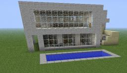 Modern House With Balcony And Swimming Pool Minecraft Map & Project