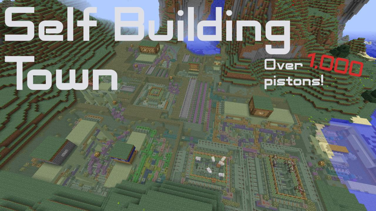 Self Building Town Minecraft Project