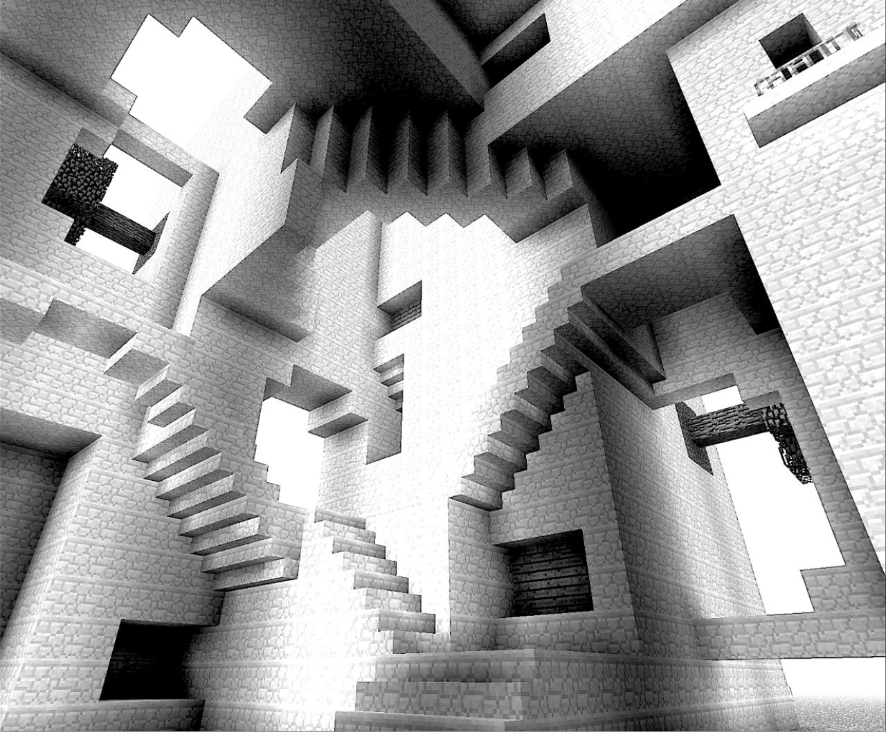 Escher relativity minecraft