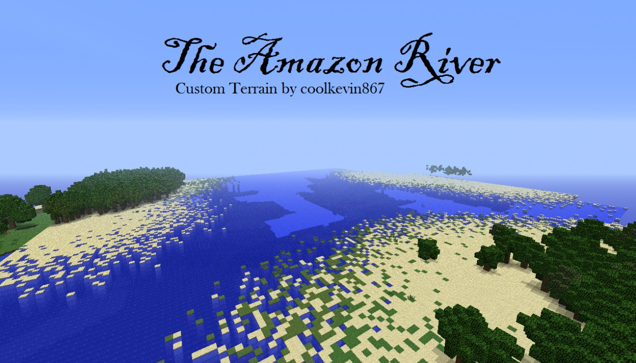 The Amazon River Minecraft Project - Amazon river map