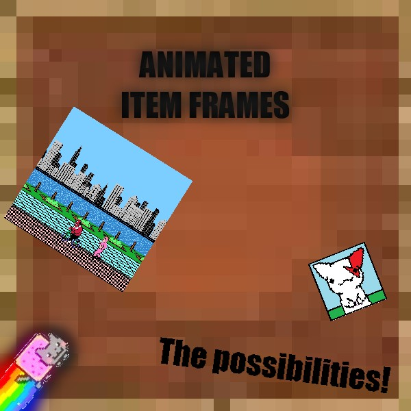 Custom Animated Paintings (Item Frames) In Minecraft! Easy 10 step ...