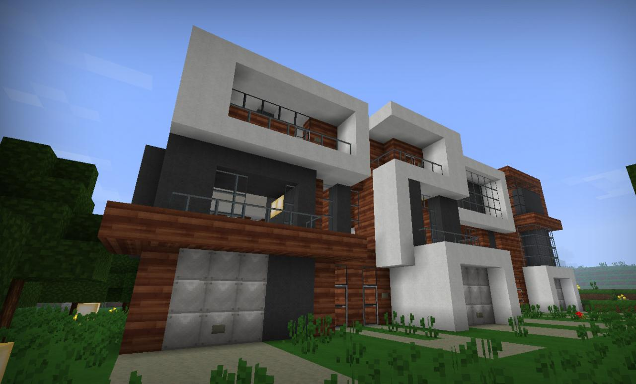 Modern townhouses minecraft project for Projects of houses