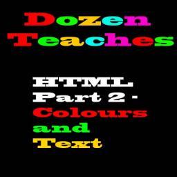 HTML Part 2: Colour and Text - Dozentorials Minecraft