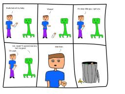 Minecraft Comic - Steve and his pal the Creeper Minecraft Blog Post