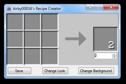 kirby0016's Recipe Creator Minecraft Mod