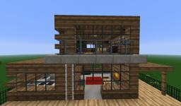 Wooden Modern House Minecraft