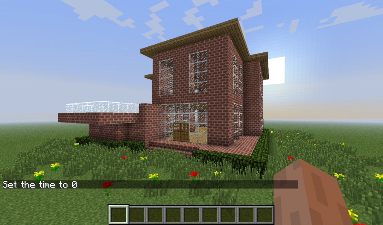 Minecraft brick house the image kid has it for Minimalist house minecraft