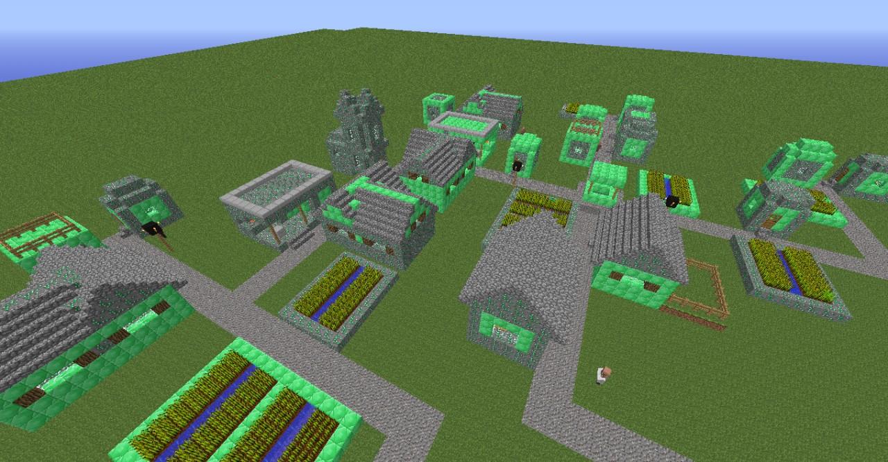 Minecraft Emerald The emerald village