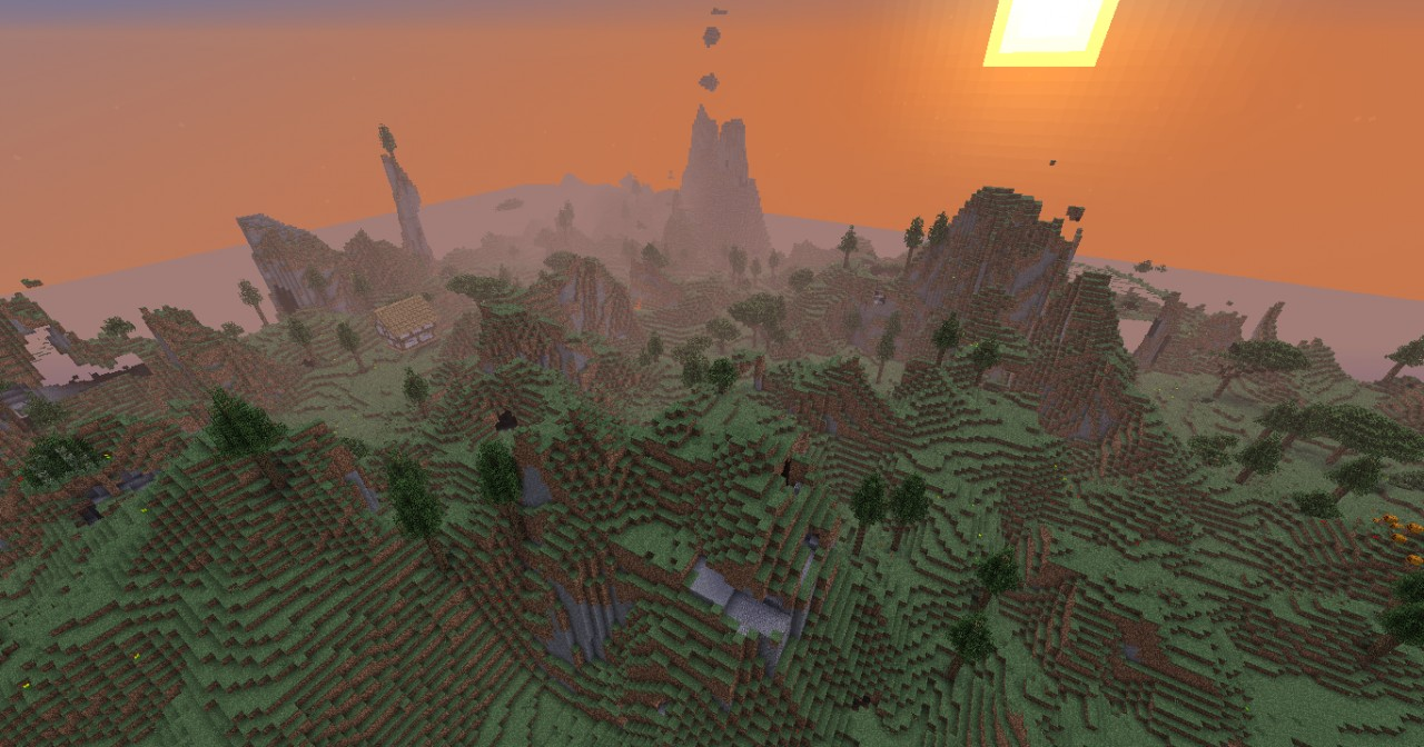 Beautiful Terrain - and  medieval structures spawn randomly