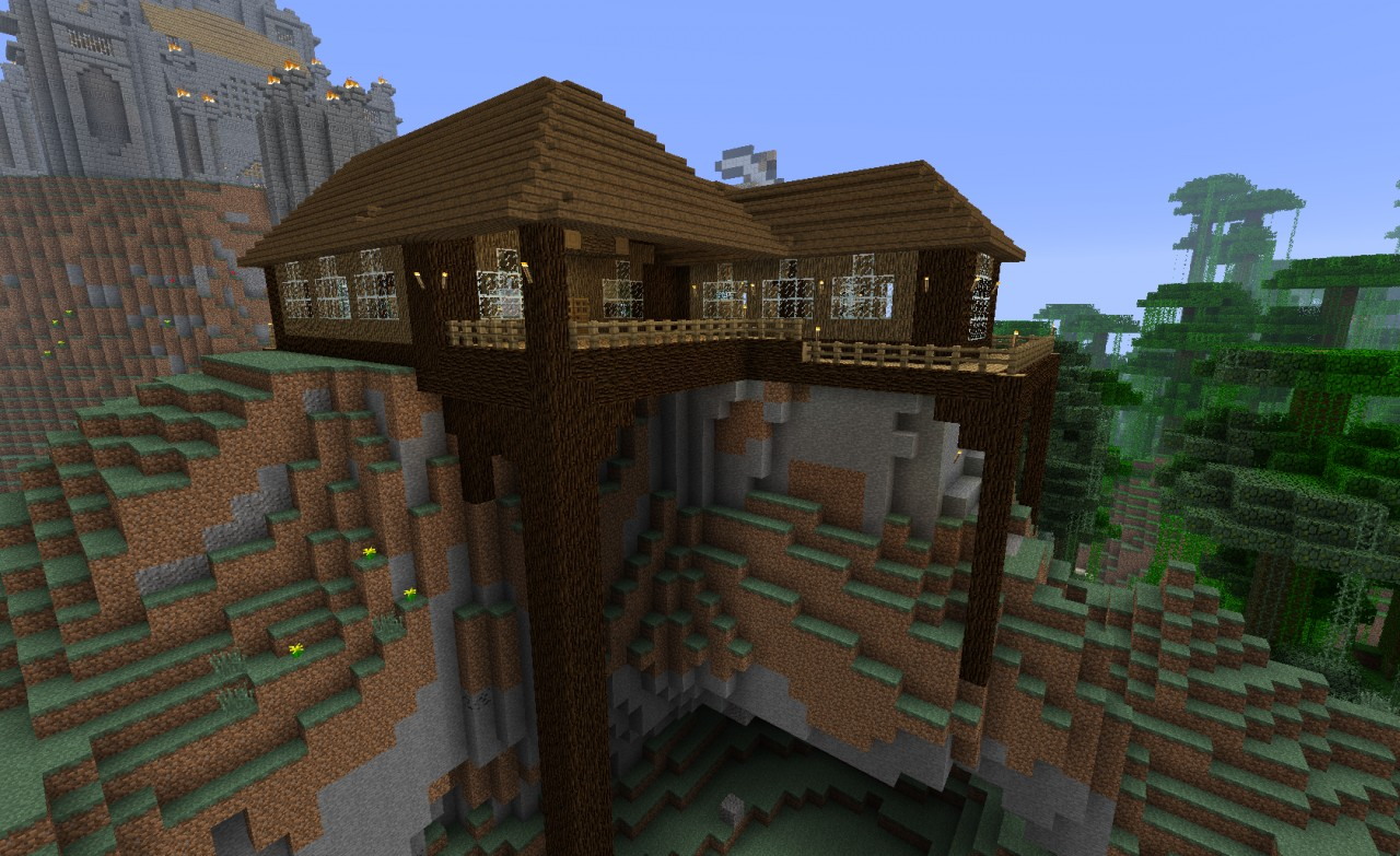 Wooden home minecraft project for Houses projects