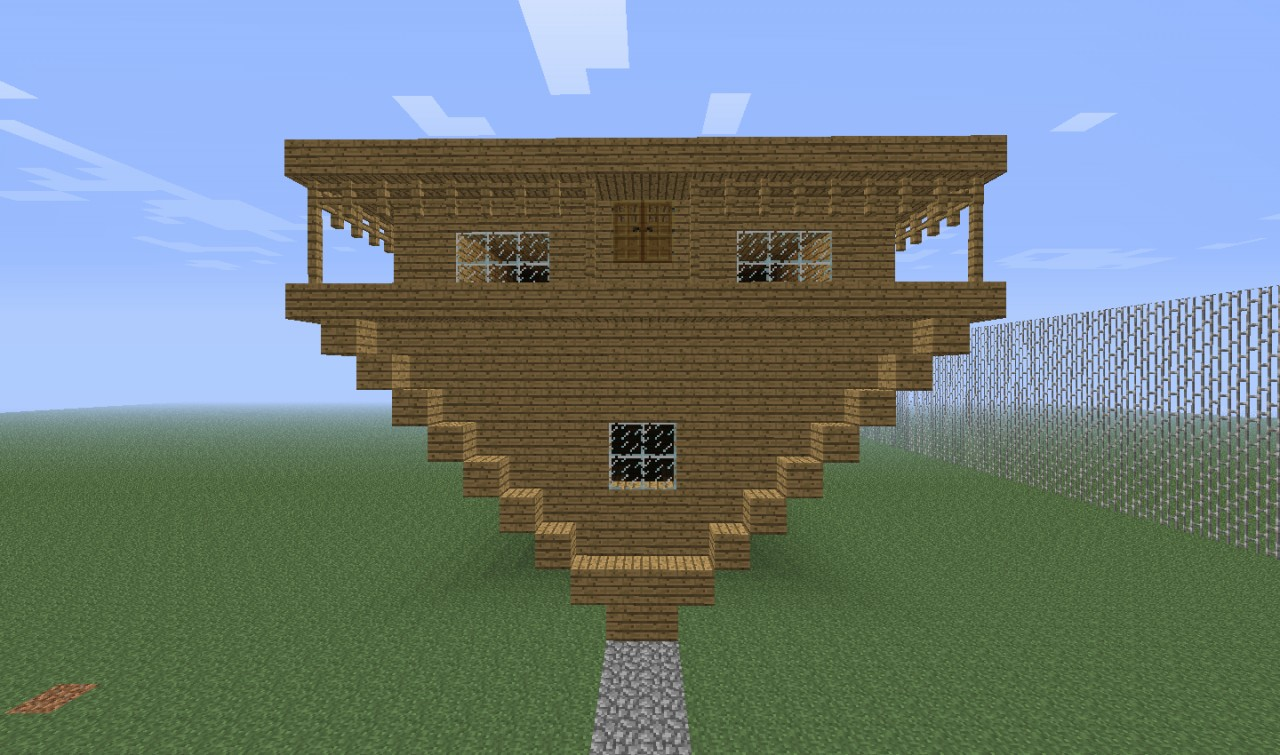 Upside Down House Minecraft Project