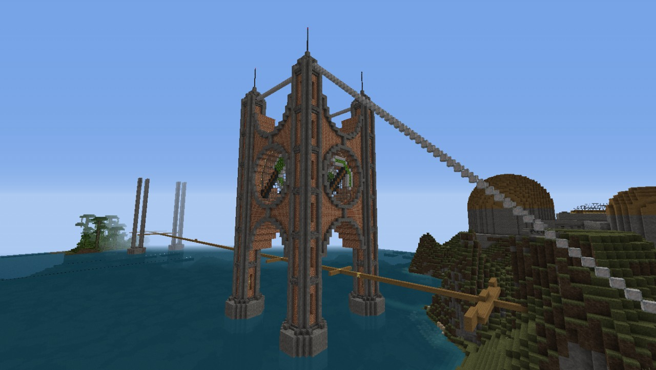 Suspension Bridge Steampunk Maybe Minecraft Project