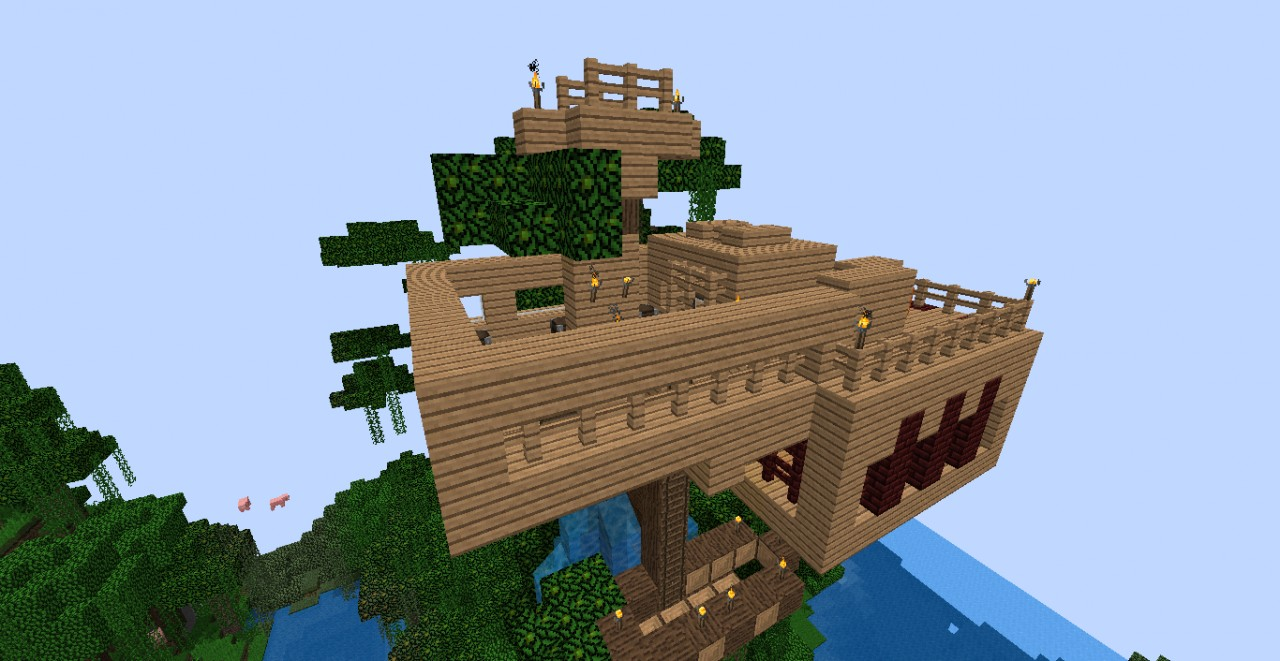 Cool Tree Houses In Minecraft | www.imgkid.com - The Image ...