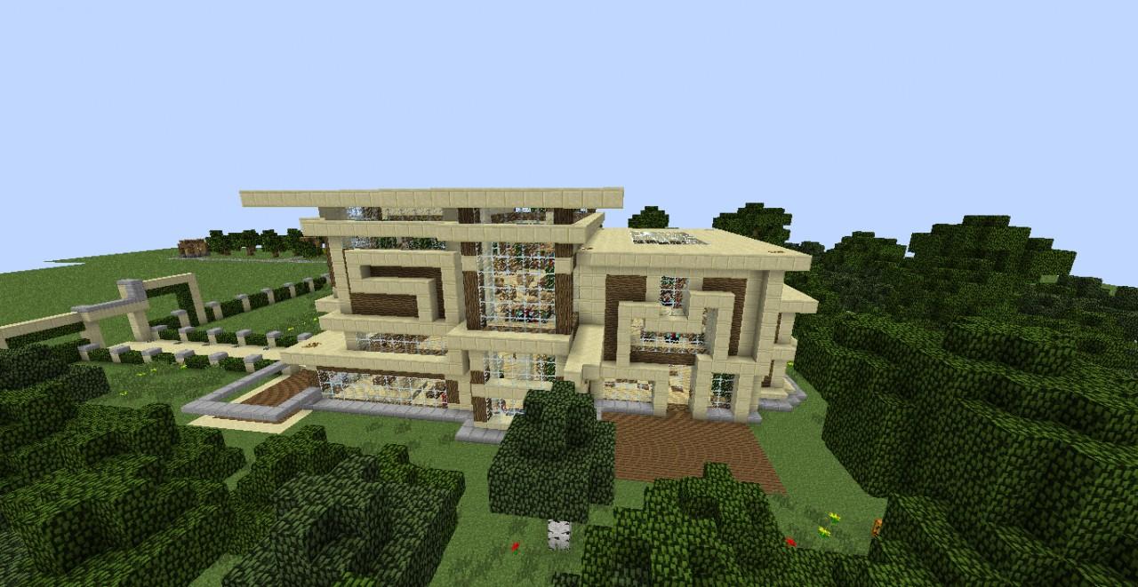 Modern Sandstone And Wood Villa