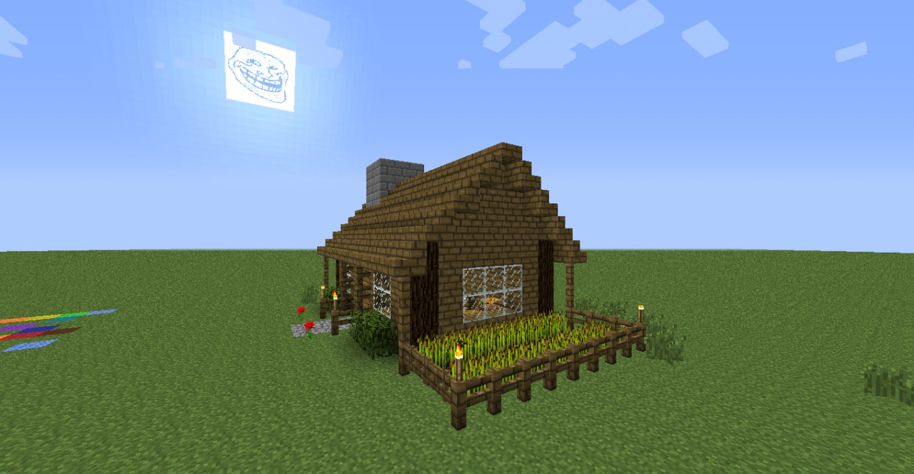 Minecraft Easy Survival House | www.galleryhip.com - The Hippest Pics