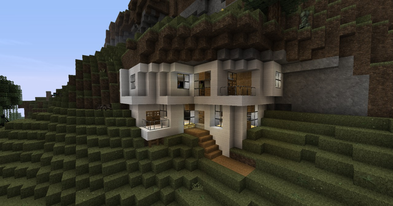 Modern house in mountain minecraft project for Houses projects