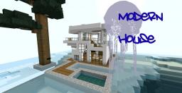 Modern House on Snow!+Epic underwater canyon!!! Minecraft Map & Project