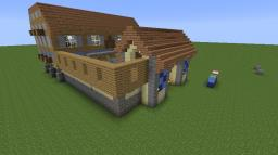 Age of Empires II Style, Teutonic Barracks (TEAM COLOURS) Minecraft