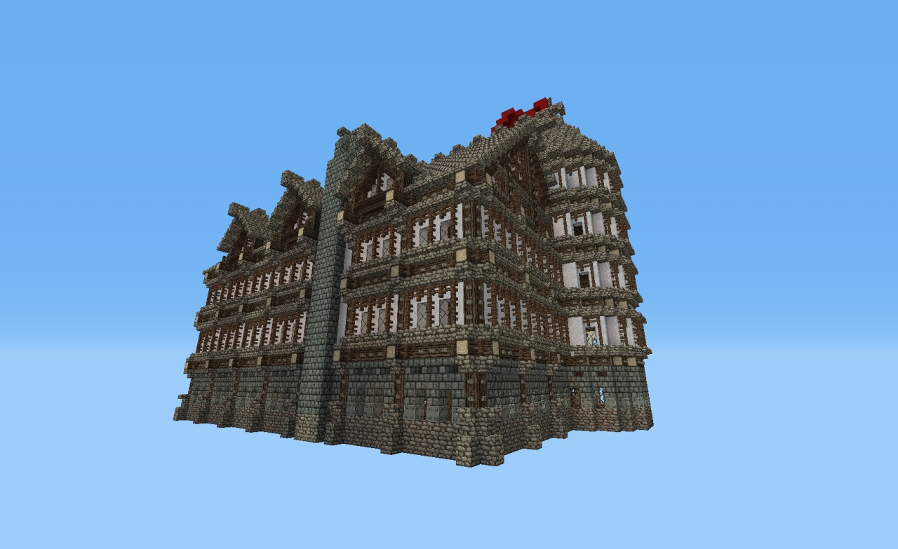 Large House Mostly Furnished Minecraft Project
