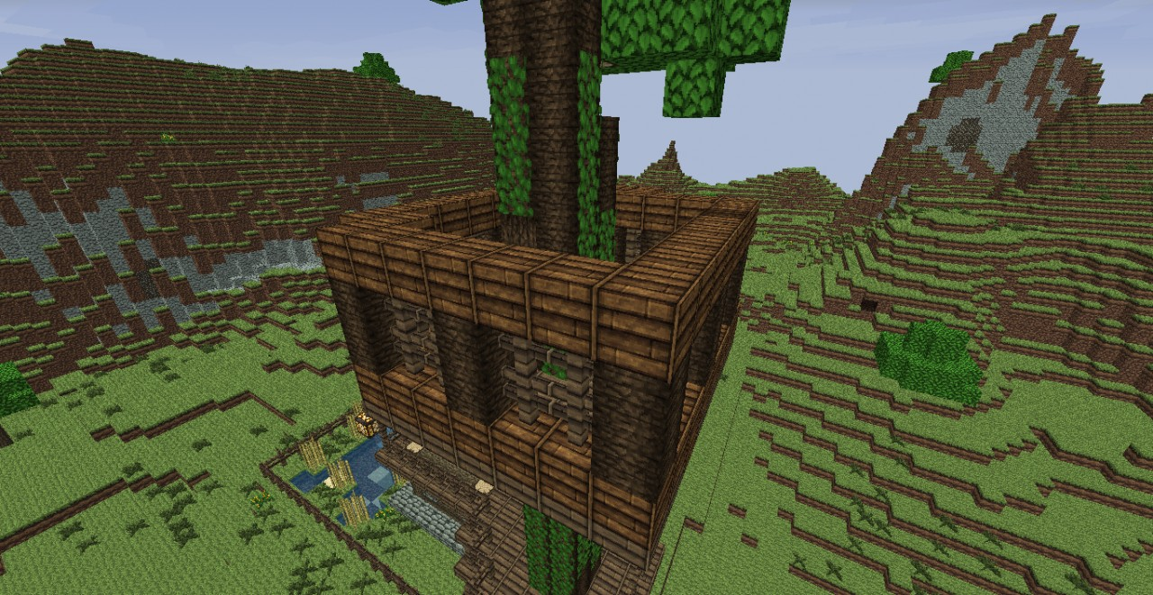 Good Looking House With Tree House Minecraft Project