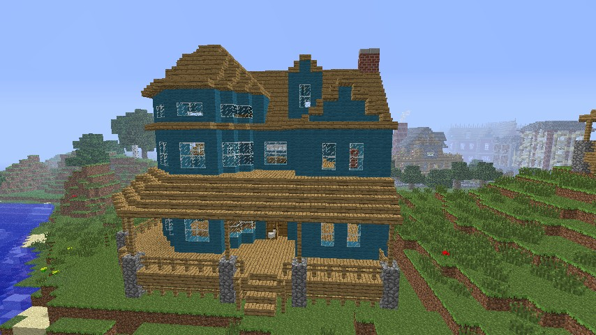Victorian House in a different colour Minecraft Project ...