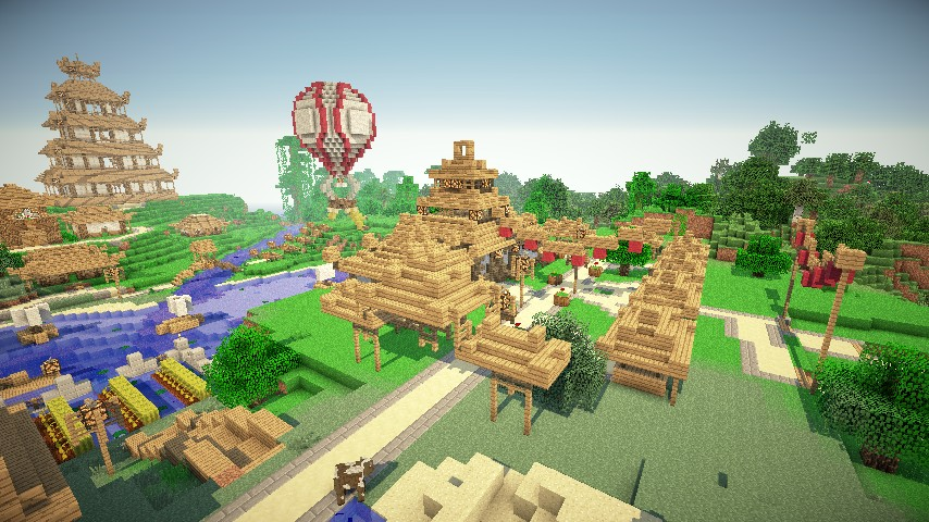 japanese village minecraft project