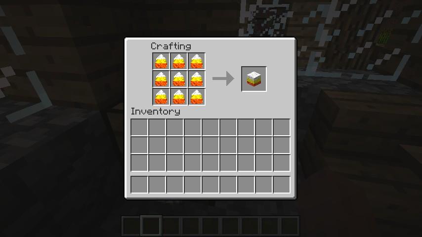 Recipe for Candy Corn Block