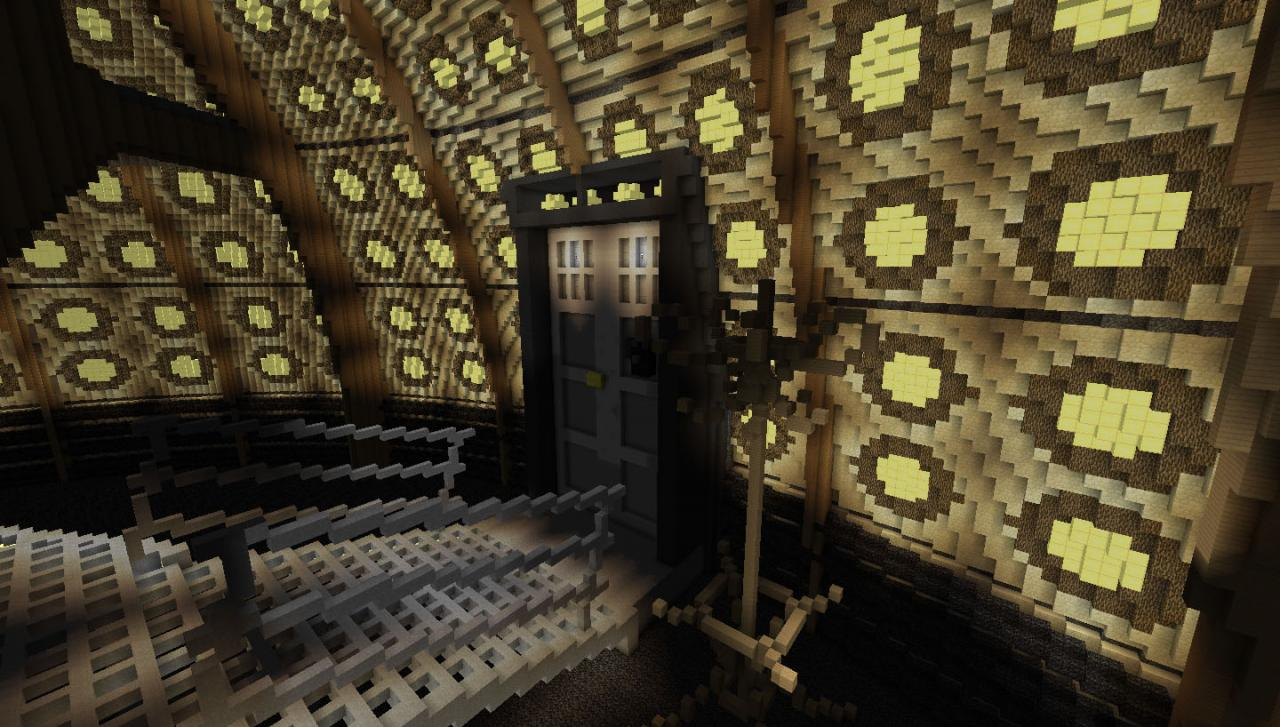 doctor who inside of the tardis minecraft project
