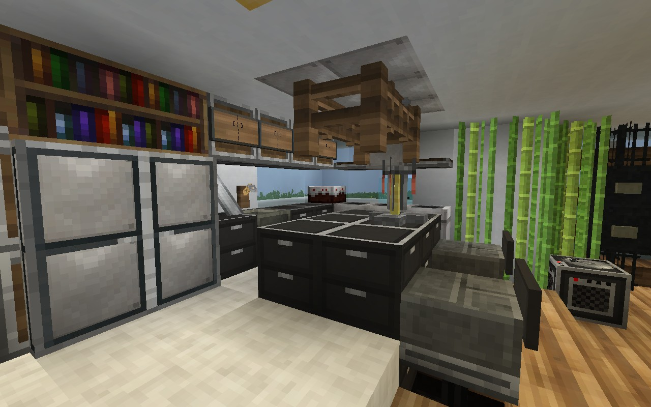 Permafrost house minecraft project for Kitchen ideas minecraft