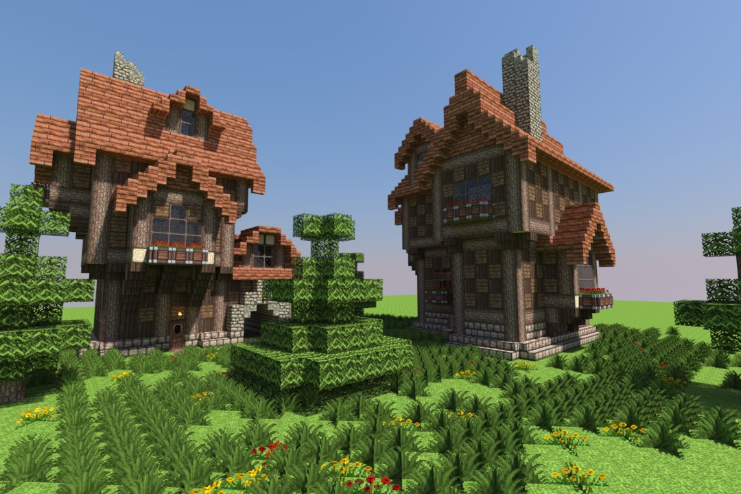 Minecraft Medieval Houses Project