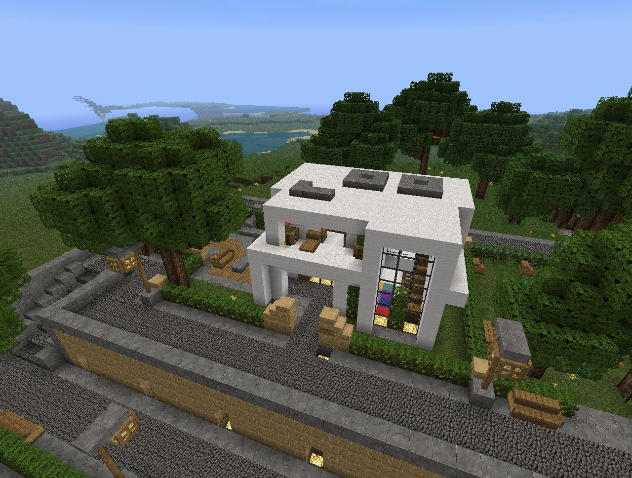 Modern House Project V1 1 By Pandyraze Minecraft Project