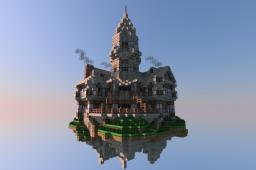 Sky Island Mansion. Minecraft Project